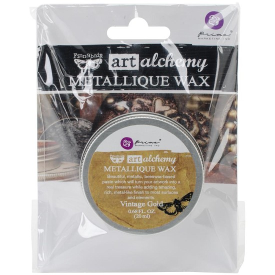 Finnabair Art Alchemy - Metallique Wax .68 Fluid Ounce - Vintage Gold