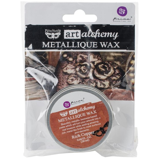 Finnabair Art Alchemy - Metallique Wax .68 Fluid Ounce - Rich Copper