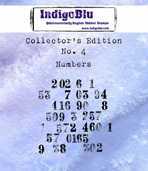 IndigoBlu - Rubber Stamp - Collectors Edition 4 - Numbers