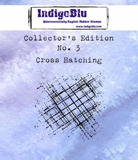 IndigoBlu - Rubber Stamp - Collectors Edition 3 - Cross Hatching