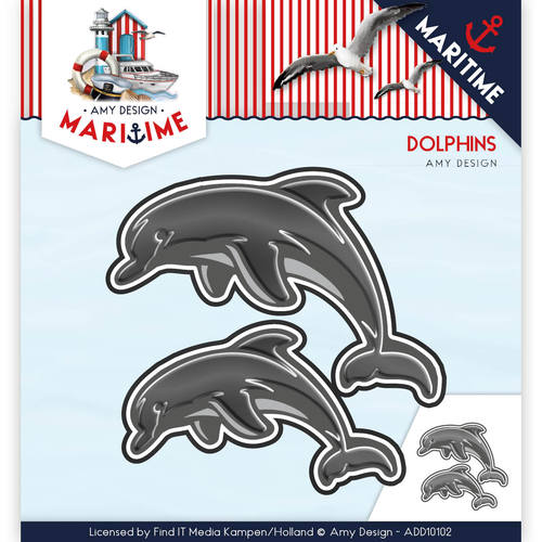 Stansmal - Amy Design - Maritime - Dolphins