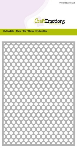 Stansmal CraftEmotions - Grid dots rond