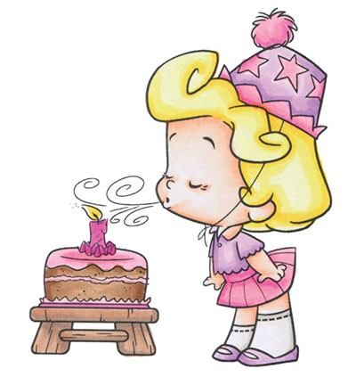 Stempel C.C. Designs - Roberto`s Rascals - Candle Blowing