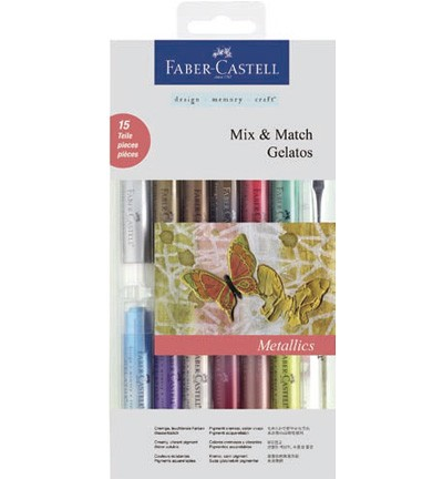 Faber Castell - Gelatos - Aquarelkrijt set Mix & Match Metallic