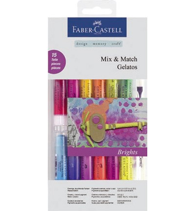 Faber Castell - Gelatos - Aquarelkrijt set Mix & Match Bright