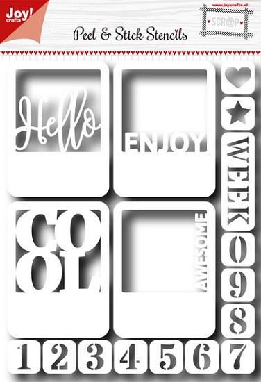Noor! Design - Scr@p! - Sticky Stencil - Hello & Numbers