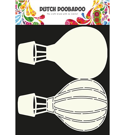 Dutch Doobadoo - Dutch Card Art - Air balloon