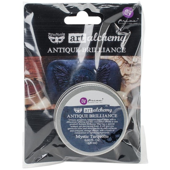 Finnabair - Art Alchemy Antique Brilliance Wax - Mystic Turquoise