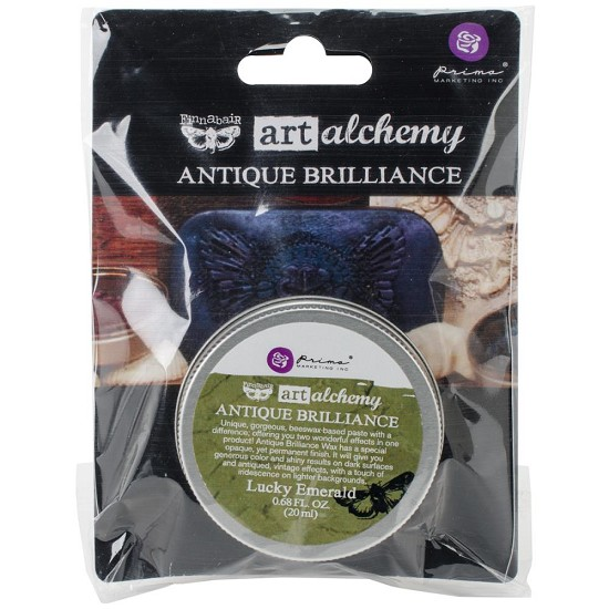 Finnabair - Art Alchemy Antique Brilliance Wax - Lucky Emerald