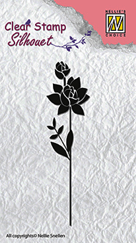 "Clearstamp Nellie Snellen - Flower silhouettes - ""flower-11"""