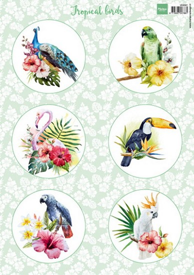 Marianne Design - Knipvel Tropical Birds