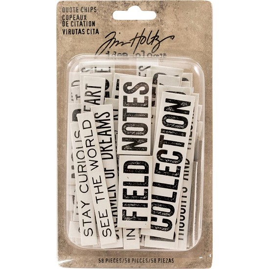 Tim Holtz - Idea-Ology - Chipboard Quote Chips (58/Pkg)