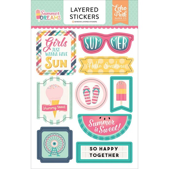 Echo Park - Summer Dreams - Layered Stickers