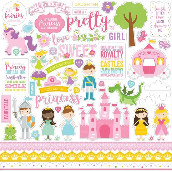 Echo Park - Perfect Princess - Cardstock stickers