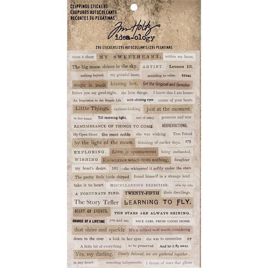 "Tim Holtz - Idea-Ology - Clippings Stickers 4.75""X7.5"""