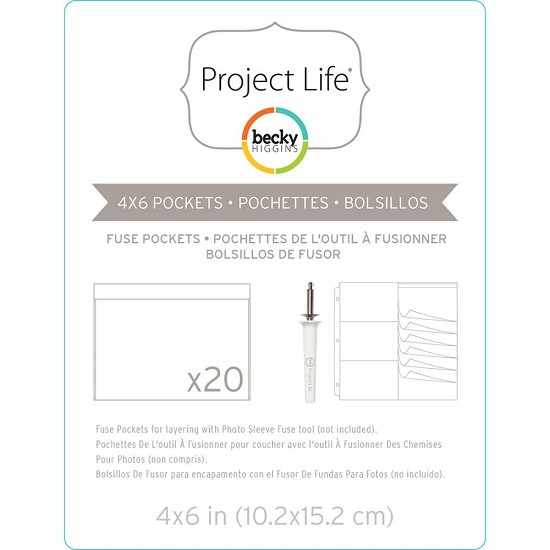 "Project Life - Photo Sleeve Fuse - 4"" x 6"" (20/pkg)"