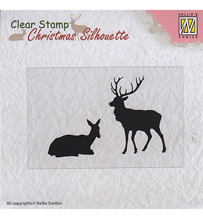 Clearstamp Nellie Snellen - Christmas Silhouette - Reindeer