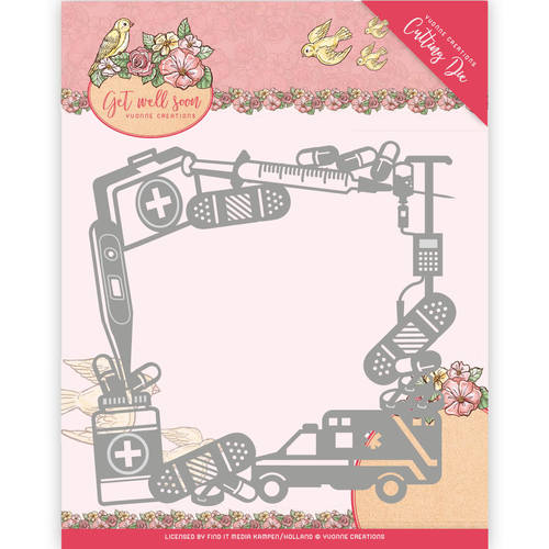 Stansmal Yvonne Creations - Get Well Soon - Get Well Frame