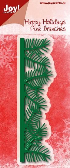 Noor! Design - Happy Holidays - Rand dennentakjes