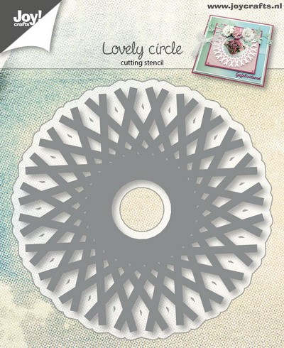 Joy! Crafts - Cutting & Embossing stencil - Cirkel in staafpatroon