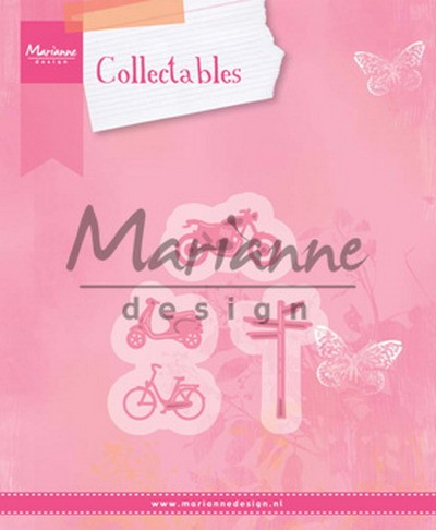 Marianne Design - Collectables - Village Decoration set 4 (bycicle)