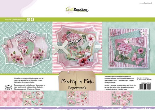 CraftEmotions - Paperpad - Pretty in Pink