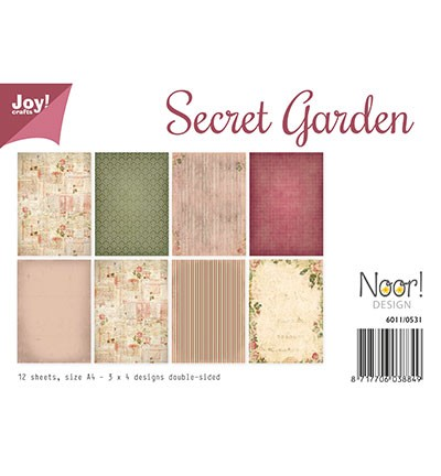 Noor! Design - Paperpad A4 - Secret Garden
