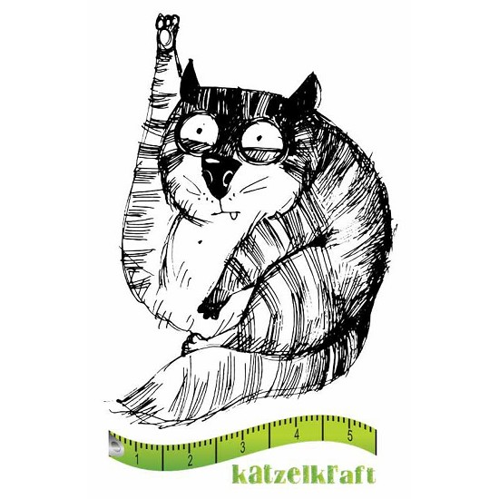Rubberstamp - Katzelkraft - Tampon Les gros chats 10