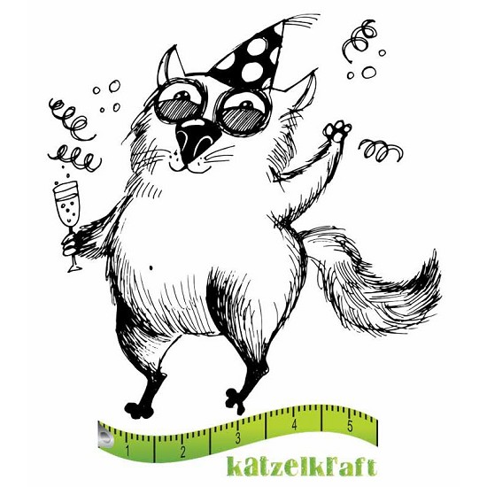 Rubberstamp - Katzelkraft - Tampon Les gros chats 4