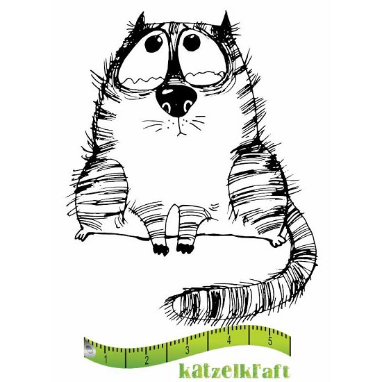 Rubberstamp - Katzelkraft - Tampon Les gros chats 1