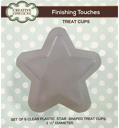 Creative Expressions - Set of 6 Star Treat Cups