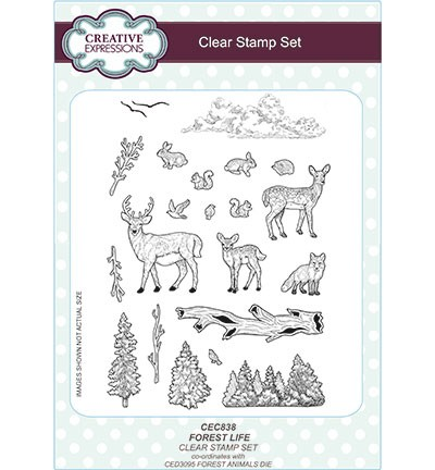 Clearstamps Creative Expressions - Forest life