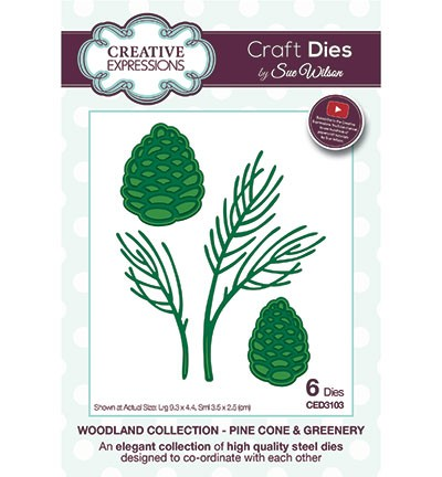 Stansmal Creative Expressions - Woodland Collection - Pine Cone & Greenery