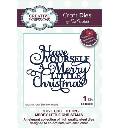 Stansmal Creative Expressions - The Festive Collection - Merry Little Christmas