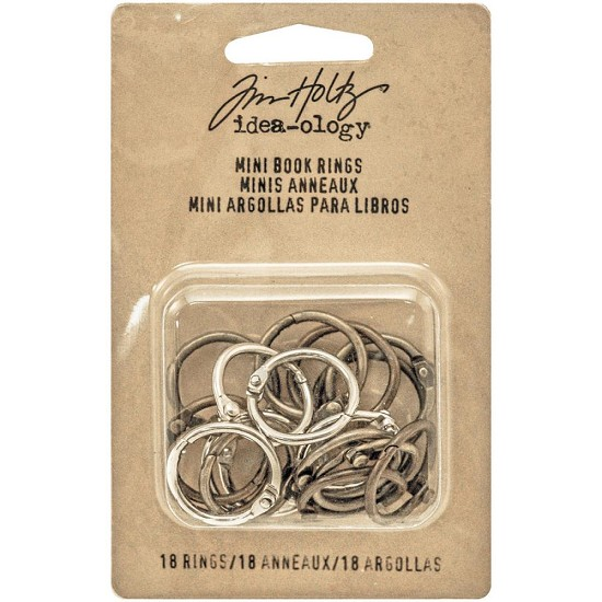"Tim Holtz - Idea-Ology Mini Book Rings .75"" - 18/Pkg"