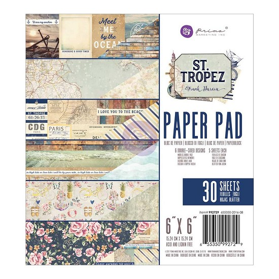 "Prima Marketing - St. Tropez - Paperpad 6"" x 6""  (30/pkg)"
