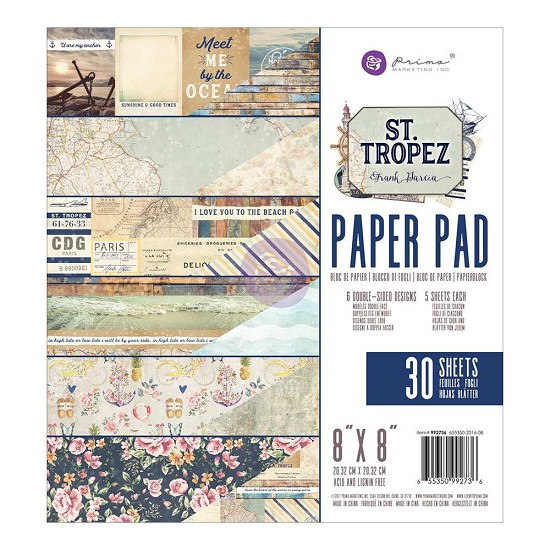 "Prima Marketing - St. Tropez - Paperpad 8"" x 8""  (30/pkg)"