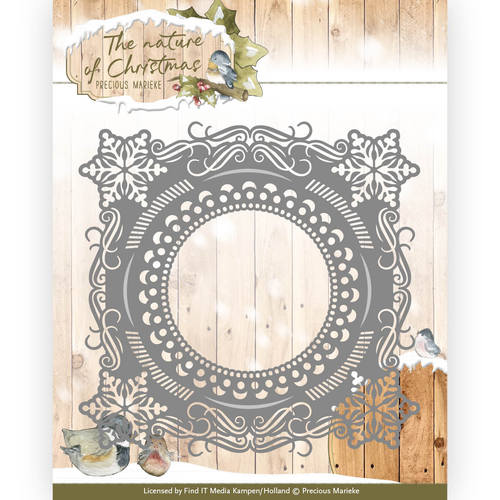 Stansmal Precious Marieke - The nature of Christmas - Christmas Snowflake Frame