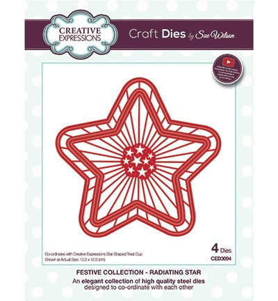 Stansmal Creative Expressions - The Festive Collection - Radiating Star