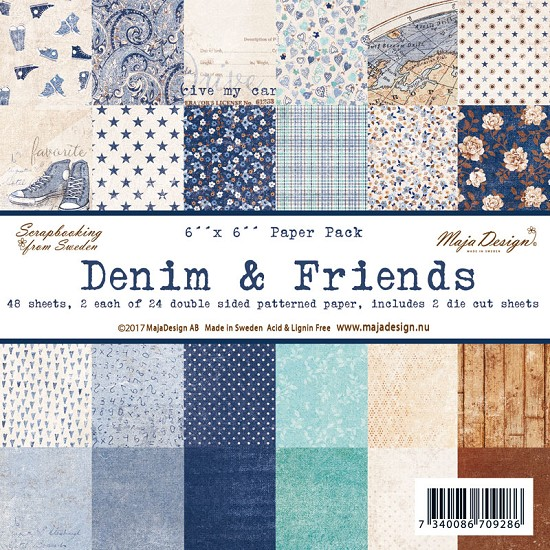 "Maja Design - Denim & Friends - Paperpad 6"" x 6"""
