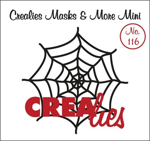 Crealies - Mask & More Mini - 116 Spinneweb