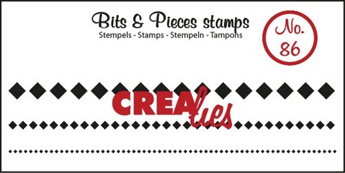 Clearstamp Crealies - Bits & Pieces - No 86 Lint Squares in a row