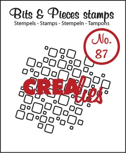 Clearstamp Crealies - Bits & Pieces - No 87 Lint Open Squares