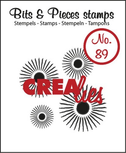 Clearstamp Crealies - Bits & Pieces - No 89 Sun (4x)