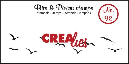 Clearstamp Crealies - Bits & Pieces - No 92 Birds in the sky medium