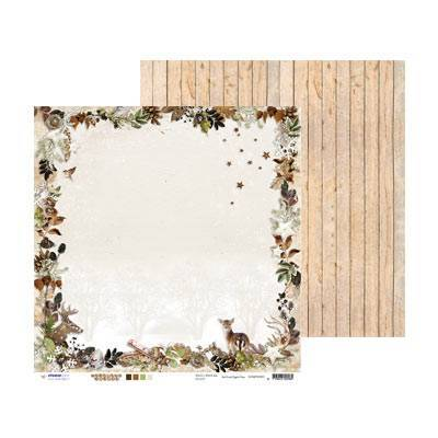 Studio Light - Woodland Winter - Scrappapier SCRAPWW01