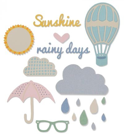 Sizzix - Thinlits Die Set - Rainy Days & Sunshine #2 (13PK)