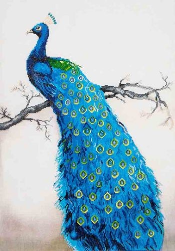 Diamond Dotz - 60x84cm - Blue Peacock - DD13.012