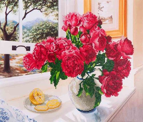 Diamond Dotz - 57x49cm - Roses by the Window - DD12.013