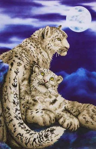 Diamond Dotz - 52x77cm - Snow Leopards - DD12.004